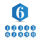Number set vector Royalty Free Stock Photos
