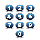 Number set vector blue Royalty Free Stock Photography