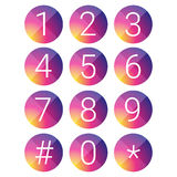 Number set vector circle Royalty Free Stock Images