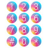 Number set vector circle Stock Photography