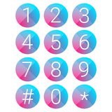 Number set vector circle Stock Images