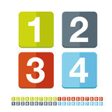 Number set vector flat design Royalty Free Stock Image