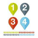 Number set vector flat design Royalty Free Stock Images
