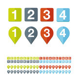 Number set vector flat design Royalty Free Stock Photography