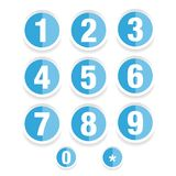 Number set vector label. Blue Stock Photo