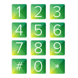 Number set vector square Stock Images