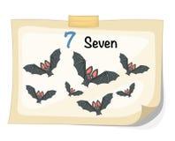 Number seven bat vector. Illustrator of number seven bat vector royalty free illustration