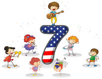 Number seven Royalty Free Stock Images