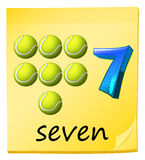 Number seven Stock Image