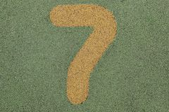 Number seven of information. Odd number royalty free stock photo
