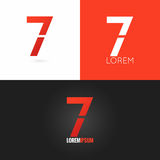 Number seven 7 logo design icon set background Stock Images
