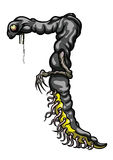 Number seven monster. Illustration digit creature 7 figure with many tentacles Stock Images