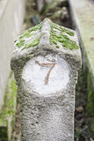 Number seven on a stone Stock Photos