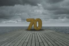 Number seventy Royalty Free Stock Images