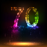 Number seventy Royalty Free Stock Image