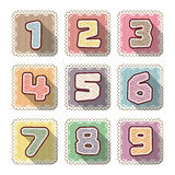 Number sew flat icon for kid Stock Photos