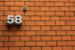 The number 58 Royalty Free Stock Image