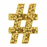 Number sign composed of golden Royalty Free Stock Photos
