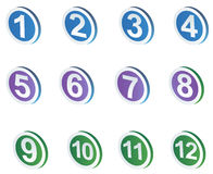 Number sign icons. Drawing of beautiful number sign icons in a white background Stock Photos