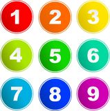 Number sign icons vector illustration
