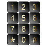 Number sign icons. Collection of number sign icons isolated on white Royalty Free Stock Photography