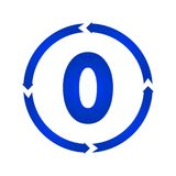 Number 0 icon. Number 0 sign turn icon.  illustration. flat style Stock Photography