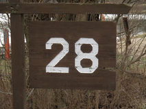 Number 28 Stock Image