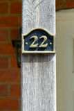 Number 22 sign Royalty Free Stock Images