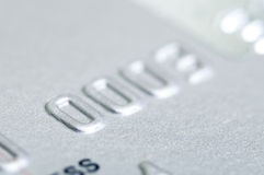 Number of silver Visa credit card Stock Photography