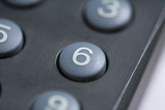 Number six button. A close up of a number six button on a remote control royalty free stock images