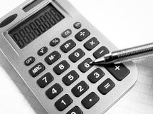 Number six  calculator Royalty Free Stock Photos
