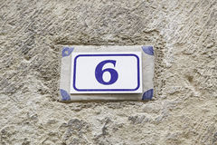 Number six of information Royalty Free Stock Image