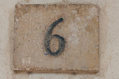 Number six Royalty Free Stock Photos