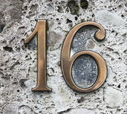 Number sixteen. House number sixteen Stock Images