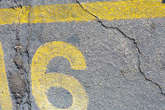 Number sixteen Parking Slot Royalty Free Stock Photo