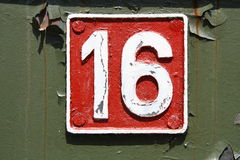 Number sixteen. Ready to use background Royalty Free Stock Photo
