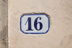Number Sixteen stock images
