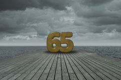 Number sixty-five Royalty Free Stock Photography