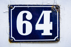 Number sixty four Royalty Free Stock Photography