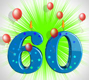 Number Sixty Party Show Elderly Birthday Or Birth Anniversary Royalty Free Stock Photos