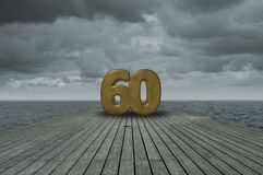 Number sixty Royalty Free Stock Photography
