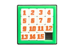 Number Slider Puzzle Stock Photo