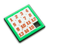 Number Slider Puzzle Royalty Free Stock Photography