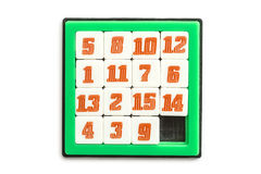 Number Slider Puzzle Stock Photography