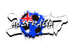 Number 2017 and soccer ball painted in the colors of the Austral Royalty Free Stock Images