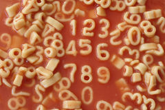 Number spaghetti Stock Image