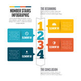 Number Stairs Infographic Royalty Free Stock Photography