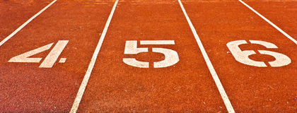 Number on the start of a running track Stock Image