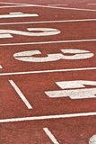 Number start running track rubber Royalty Free Stock Image