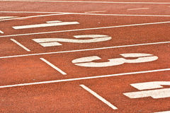 Number start running track rubber Stock Images